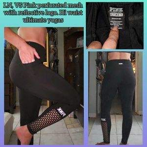 LN, perforated mesh VS Pink ultimate yogas